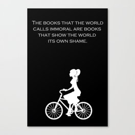 Immoral Books  Canvas Print