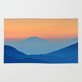 Orange Valley #mountains Rug