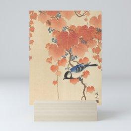 Ohara Koson - Japanese Bird Blockprint Mini Art Print