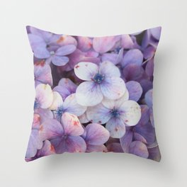 Blossom Purple Throw Pillow