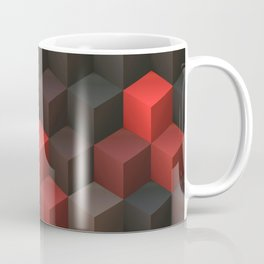 Artistic Cubes 07 red black Coffee Mug