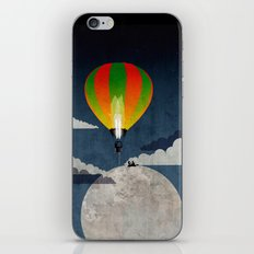 Picnic in a Balloon on the Moon iPhone & iPod Skin