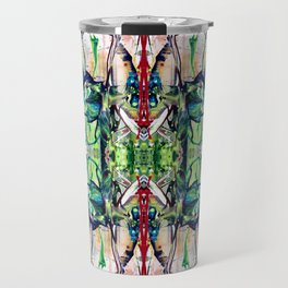 Flowerpower kaleidoscope Travel Mug
