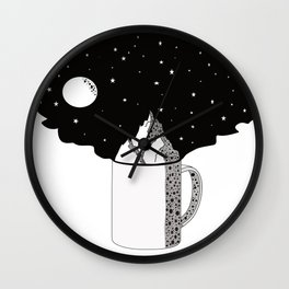 World in your cup Wall Clock