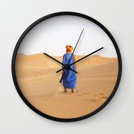Walking the Sahara Wall Clock
