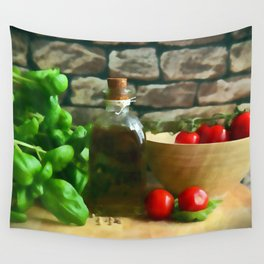 Mediterranean Kitchen Wall Tapestry