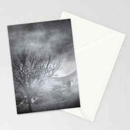 Dark Night Sky Paradox Stationery Cards