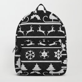 Black & White Ugly Sweater Nordic Knit Backpack