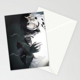 aGirl w/crow&crowTattoo Stationery Cards