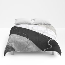 Contemporary Marble Stone Rays Comforters