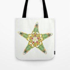 starfish flowers off white Tote Bag