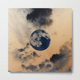 Moon Clouds Metal Print