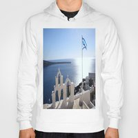 greece Hoodies featuring Greece by Shine Like Sunbeams
