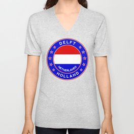Delft, Holland, Netherlands Unisex V-Neck