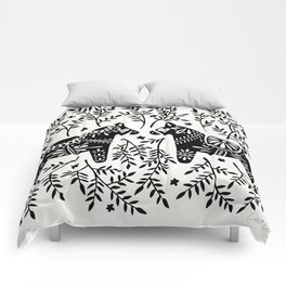 Swedish Dala Horses – Black Palette Comforters
