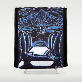 Cthulhu Dreaming Shower Curtain