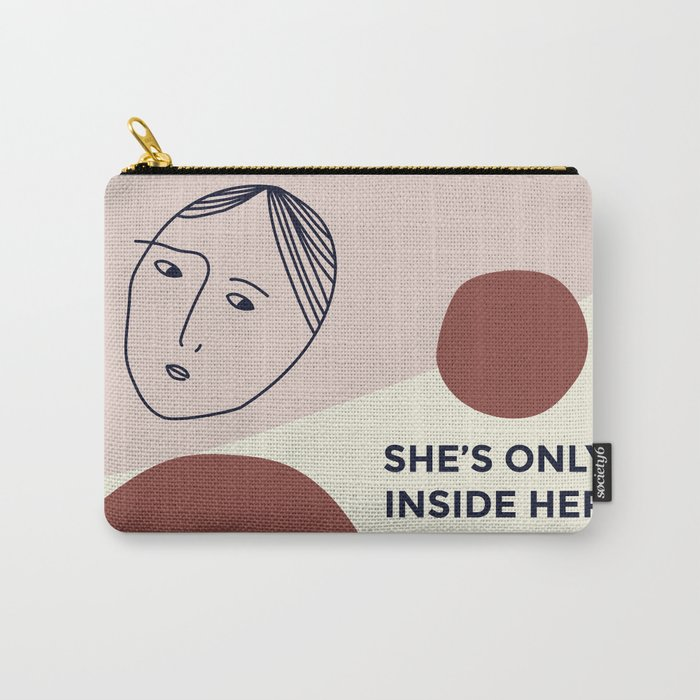 She's only inside her head Carry-All Pouch