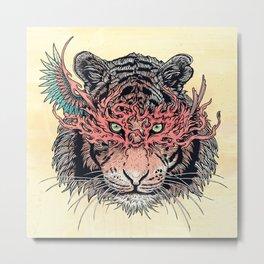 Masked Tiger Metal Print