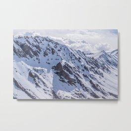 Mountains with snow Metal Print