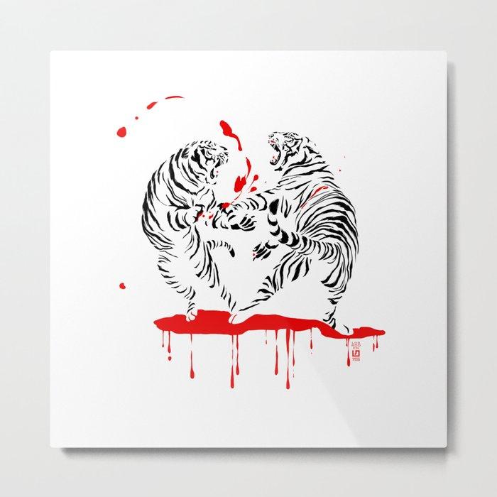 Tora Tora! // (tiger fight) Metal Print