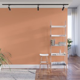 From The Crayon Box - Atomic Tangerine - Solid Color - Bright Peach Wall Mural