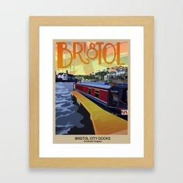 Bristol Travel Poster Framed Art Print