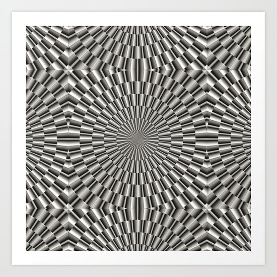 High tech silver metal surface Art Print