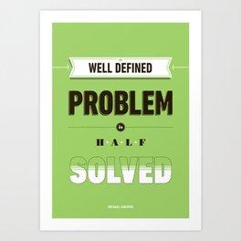 Well defined problem Art Print