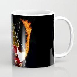Burning Rock Guitar Coffee Mug