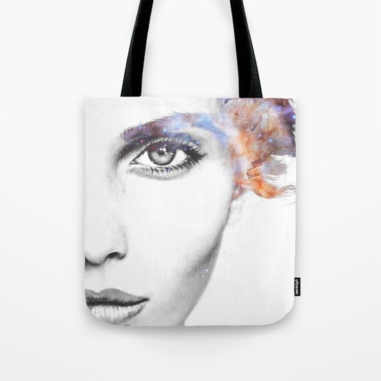 Girl with stars in her hair Tote Bag