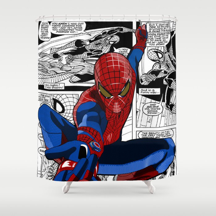 Spider-Man Comic Shower Curtain