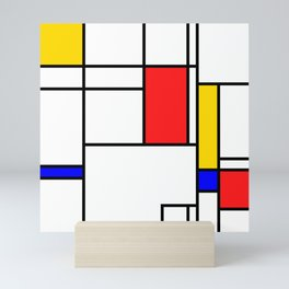 Bauhaus geometric #5 Mini Art Print