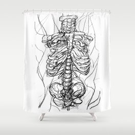Skeleton Front Shower Curtain