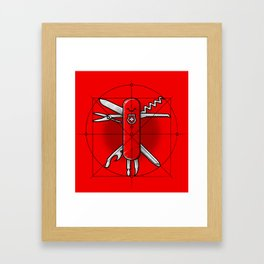 Vitruvian Swiss Knife Framed Art Print