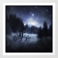 pagan Art Prints featuring Pagan Night by Silvana Massa Art