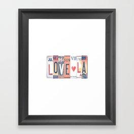 LOVE LA License Plate Art Framed Art Print