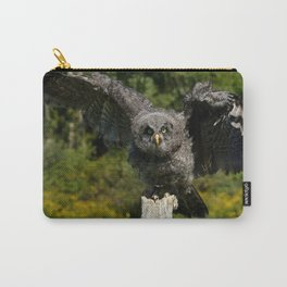 Baby Great Gray Owl Carry-All Pouch
