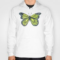 lime green Hoodies featuring Lime Butterfly by Cat Coquillette