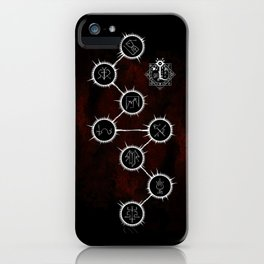 Path of Suns on Red iPhone Case