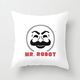 MR Robot Fsociety Throw Pillow