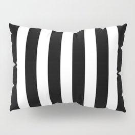 Classic Black and White Football / Soccer Referee Stripes Pillow Sham