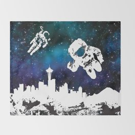 astro in seattle Throw Blanket