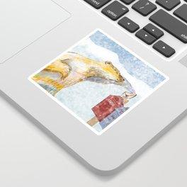 Valentines polar bear Sticker