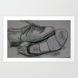 Tap Shoes Art Print