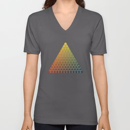 Lichtenberg-Mayer Colour Triangle vintage remake, based on Mayers' original idea and illustration Unisex V-Neck