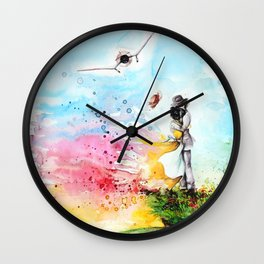 """By the cliff"" Wall Clock"