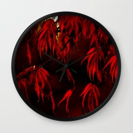 RED, RED AUTUMN Wall Clock