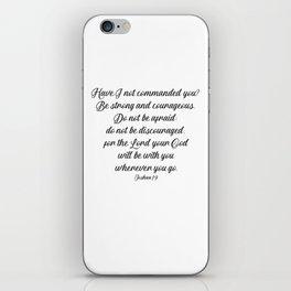 Joshua 1 9 #minimalism iPhone Skin