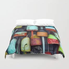 Float on a wall, Cape Cod Duvet Cover