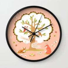 Les Amis - Dawn Colorway Wall Clock